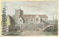 Brasted church Kent, N.E. of Westerham